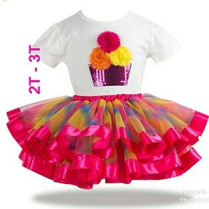 Other - Baby kid birthday outfit new party tutu dress